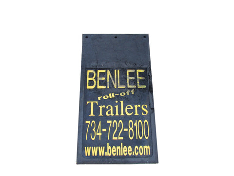 BENLEE Mud Flap - 15 inch x 30 inch - Roll Off Trailer Parts