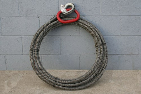 "Roll Off Cable - 1"" X 125' Flat Wound"