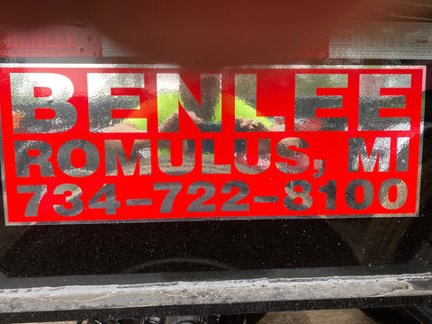 BENLEE Address Decal - Roll Off Trailer Parts