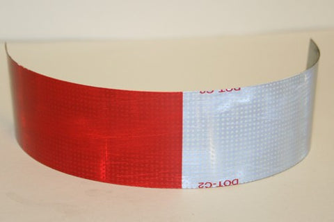 "Reflective Tape - 2"" Red/White Roll of 150'"