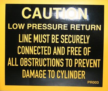 Caution Low Pressure