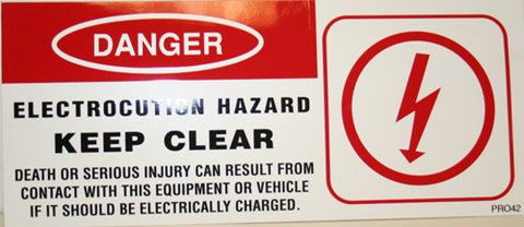 Keep Clear Electrocution Hazard