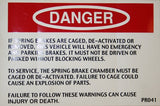 Danger Spring Brake Caged - Roll Off Trailer Parts