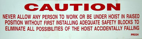 Caution Do Not Work Under