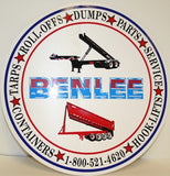 BENLEE 12 inch Decal - Roll Off Trailer Parts