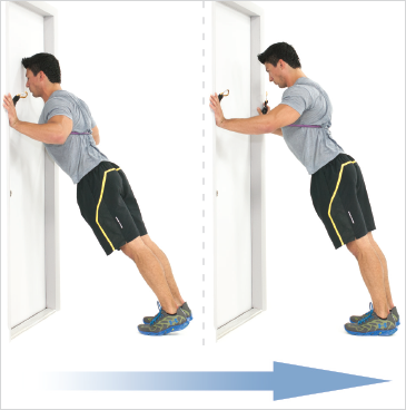 Resisted Door Push Ups