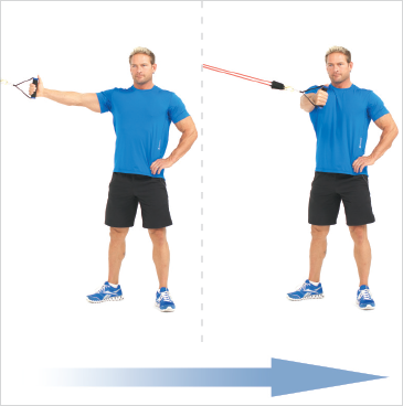 Standing One Arm Chest Flys (High)