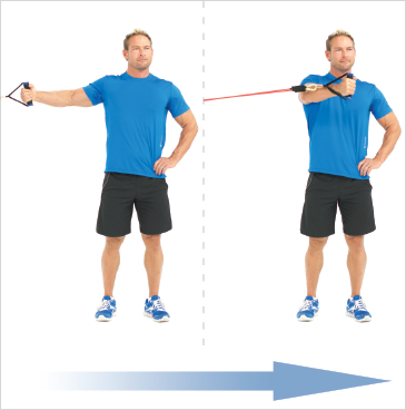 Standing One Arm Chest Flys (Mid)