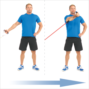 Standing One Arm Chest Flys (Low)