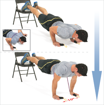 Resisted Decline Military Push ups