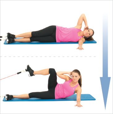 Lying Side Oblique Crunches