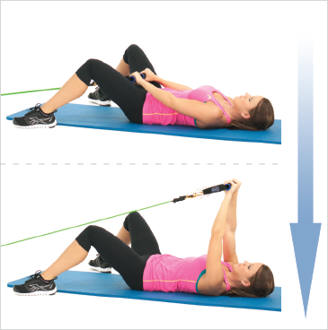 Lying Front Shoulders Raises