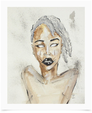 Sadé Grey Art Print