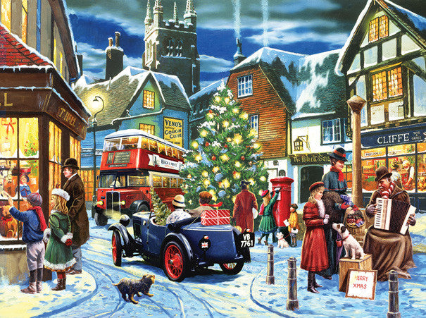 Christmas Streets Jigsaw Puzzle 1,000 Pieces Kevin Walsh - Mr Puzzle Head