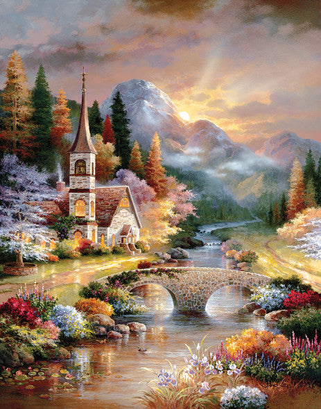 A Country Evening Service Jigsaw Puzzle 1,000+ Pieces James Lee - Mr Puzzle Head