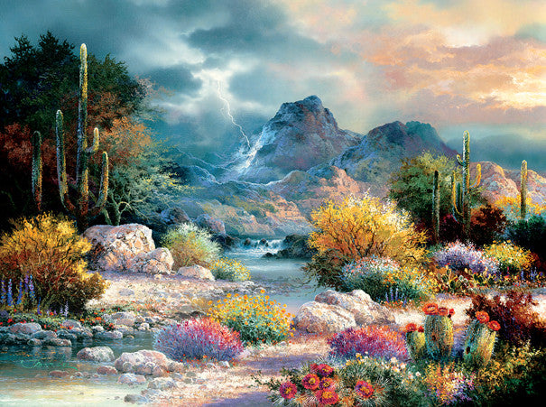 Springtime Valley Jigsaw Puzzle 1,000 Pieces James Lee - Mr Puzzle Head