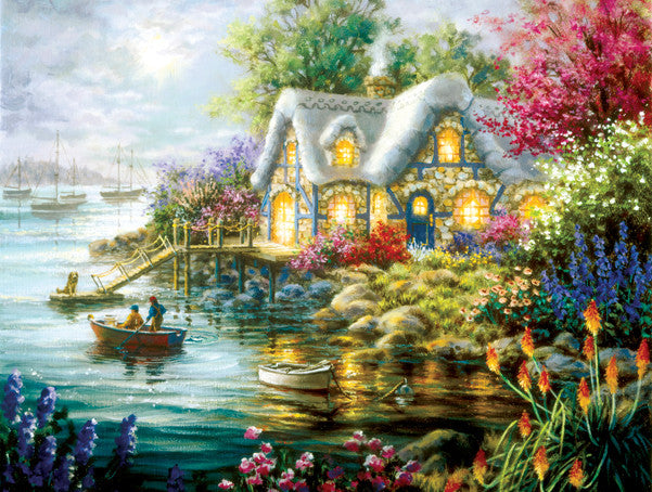 Cottage Cove Jigsaw Puzzle 300 Pieces Nicky Boehme - Mr Puzzle Head