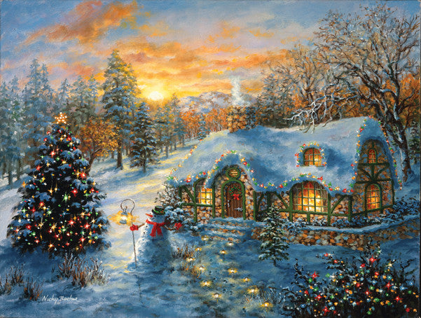 Christmas Cottage Jigsaw Puzzle 500 Pieces Nicky Boehme - Mr Puzzle Head