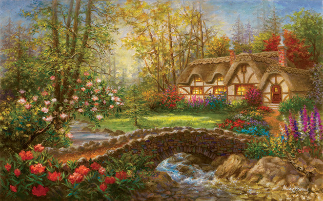 Country Home Jigsaw Puzzle 300 Pieces Nicky Boehme - Mr Puzzle Head
