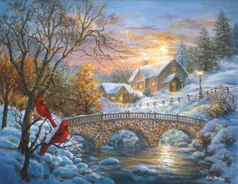 Winter Sunset Boehme, Nicky 1,500 Pieces  - MrPuzzleHead.com
