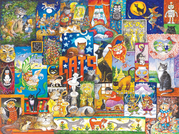World of Cats Jigsaw Puzzle 1,000 Pieces Bill Bell - Mr Puzzle Head
