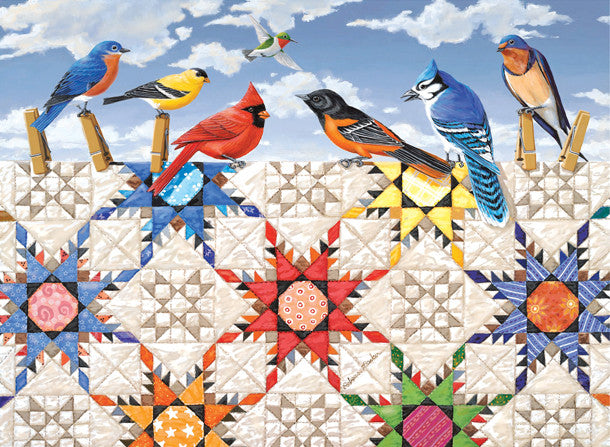 Feathered Stars Jigsaw Puzzle 500 Pieces Rebecca Barker - Mr Puzzle Head