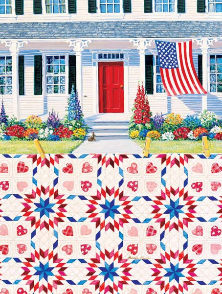 Red White & Blue Jigsaw Puzzle