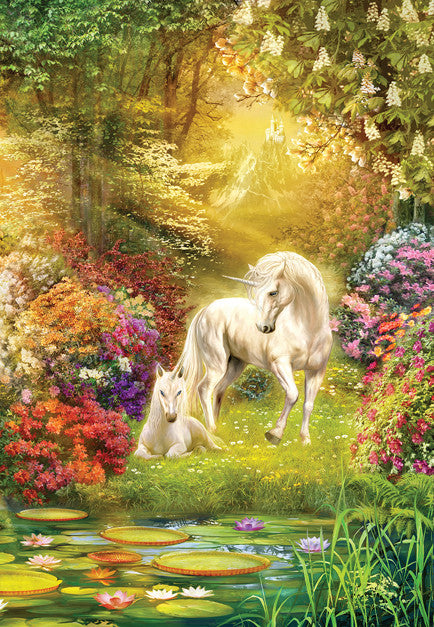 Enchanted Garden Unicorns Jigsaw Puzzle