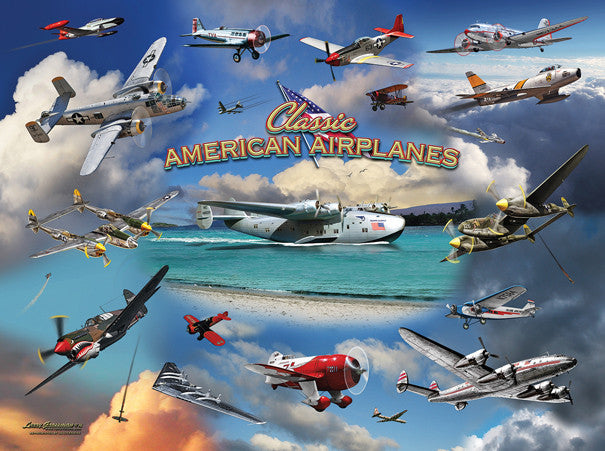 Classic American Planes Jigsaw Puzzle 1,000 Pieces Larry Grossman - Mr Puzzle Head