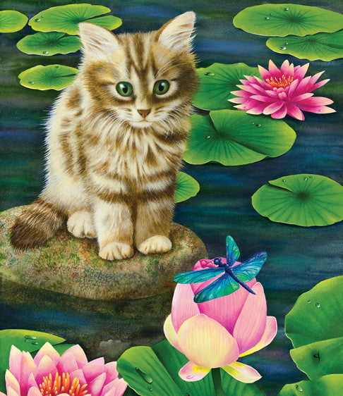 Lily's Pond Jigsaw Puzzle 200 Pieces Carolyn Steele - Mr Puzzle Head