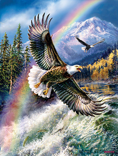 Whitewater Eagle Jigsaw Puzzle 500 Pieces James Meger - Mr Puzzle Head