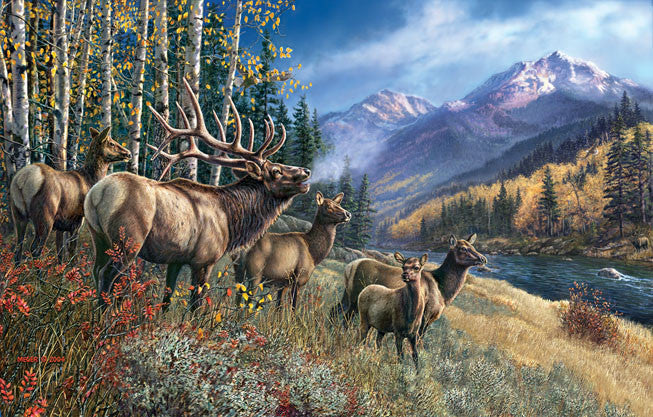 Elk Anthem Jigsaw Puzzle 1,000 Pieces James Meger - Mr Puzzle Head