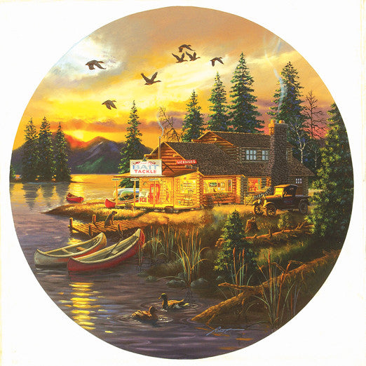 Rusty's Retreat Jigsaw Puzzle 1,000 Round Shaped Pieces D.L. Rusty Rust - Mr Puzzle Head