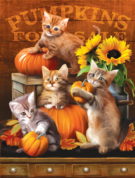 Autumn Kitties Jigsaw Puzzle  Tom Wood - Mr Puzzle Head