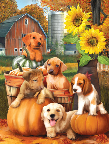 Autumn Puppies Jigsaw Puzzle  Tom Wood - Mr Puzzle Head