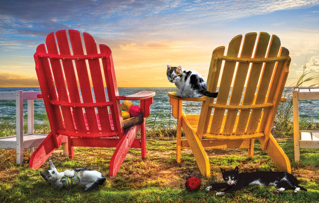 Cat Nap at the Beach Jigsaw Puzzle