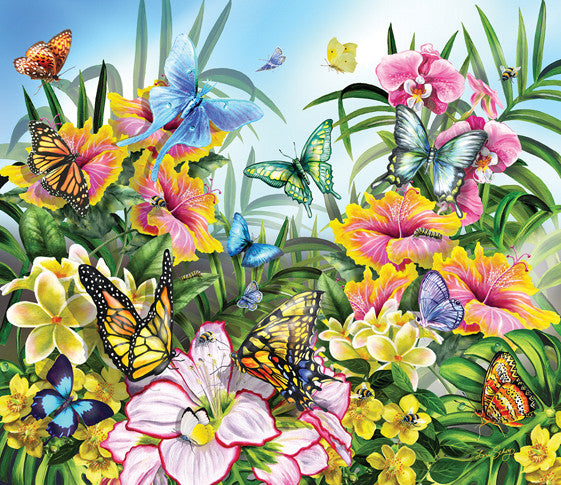 Butterflies in the Garden Jigsaw Puzzle
