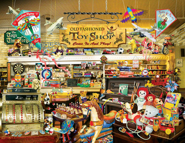 An Old Fashioned Toy Shop Jigsaw Puzzle 1,000+ Pieces Lori Schory - Mr Puzzle Head