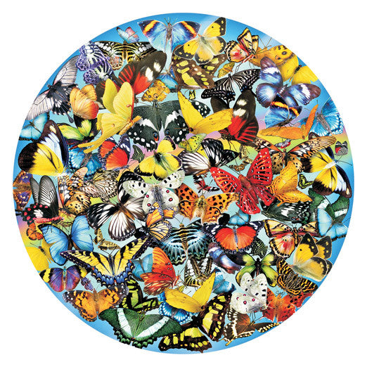 Butterflies in the Round Jigsaw Puzzle