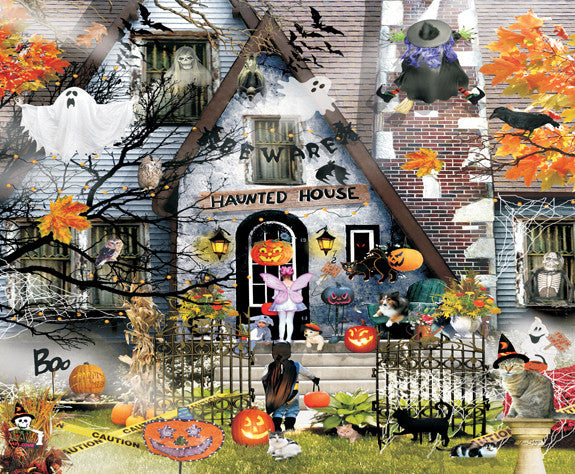 Haunted House Jigsaw Puzzle 1,000 Pieces Lori Schory - Mr Puzzle Head