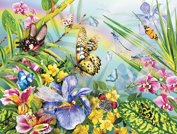 A Frog and Some Butterflies Jigsaw Puzzle  Lori Schory - Mr Puzzle Head