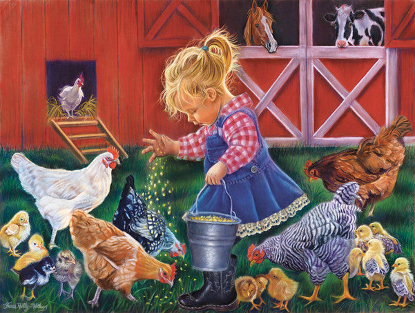 Farm Girl Jigsaw Puzzle