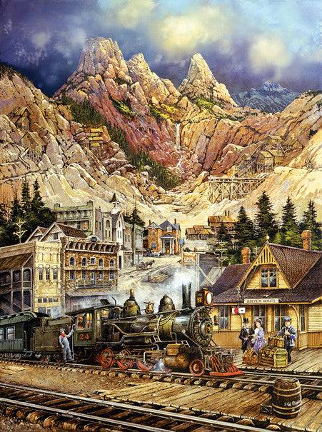 Silver Gulch Departure Jigsaw Puzzle 1,000 Pieces Ted Blaylock - Mr Puzzle Head