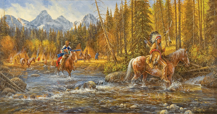 Blackfoot Trapper Jigsaw Puzzle