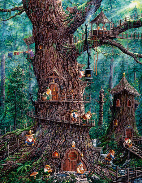 Forest Gnomes Jigsaw Puzzle 1,000+ Pieces Jeff Tift - Mr Puzzle Head