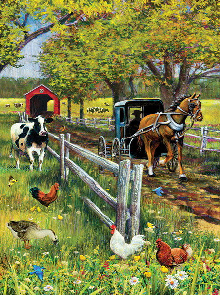 Horse and Buggy Jigsaw Puzzle 1,000 Pieces J. Charles - Mr Puzzle Head