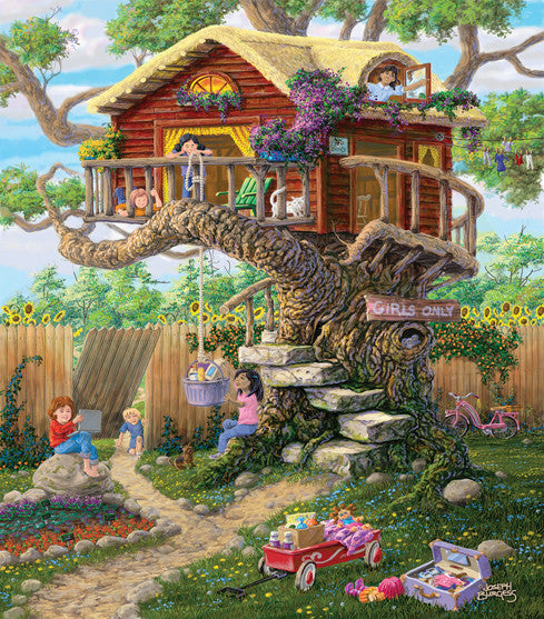 Girl's Clubhouse Jigsaw Puzzle 300 Pieces Joseph Burgess - Mr Puzzle Head