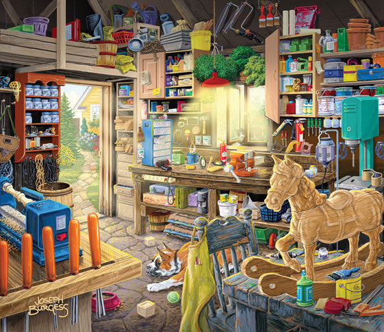 Pap Pap's Tool Shed Jigsaw Puzzle 550 Pieces Joseph Burgess - Mr Puzzle Head