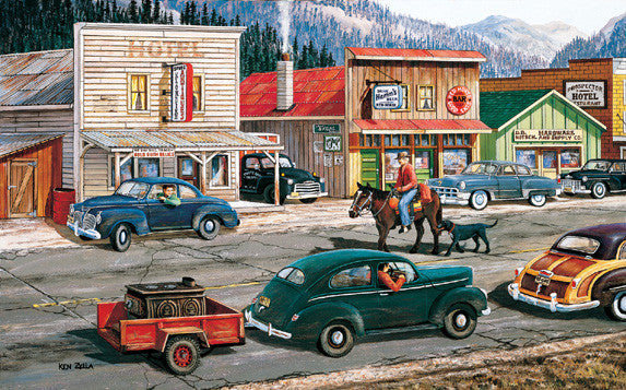 Along the Yukon Jigsaw Puzzle 300 Pieces Ken Zylla - Mr Puzzle Head