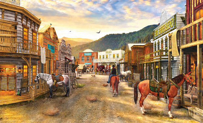 Wild West Town Jigsaw Puzzle 550 Pieces Dominic Davison - Mr Puzzle Head